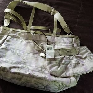 Coach diaper bag and wristlet